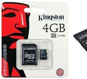 Tarjeta SD 4 GB Clase 4
